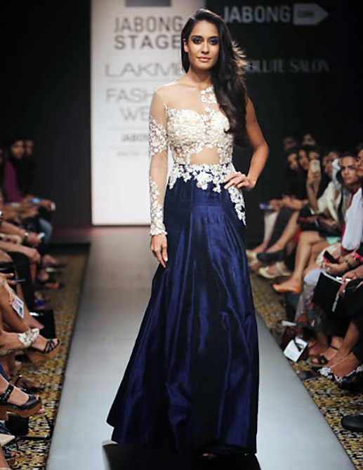 Lisa Haydon in a Ridhi Mehra creation.