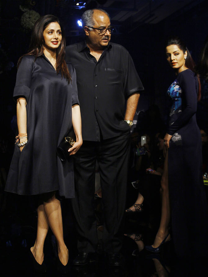 Sridevi and Boney Kapoor (and Celina Jaitly too)