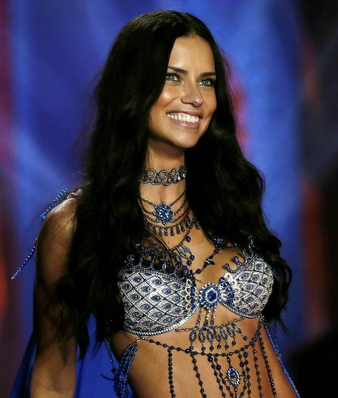 5b7fb84d322 Adriana Lima has revealed that she felt impressive wearing the 2 million  dollar Fantasy Bra for the latest Victoria s Secret Show.