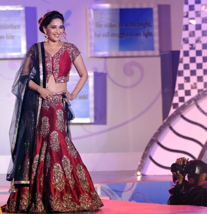 Madhuri Dixit walks the ramp for Manish Malhotra