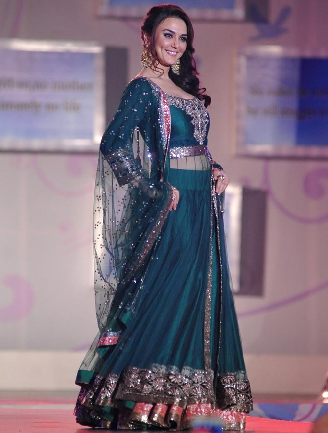 Preity Zinta in a Manish Malhotra creation