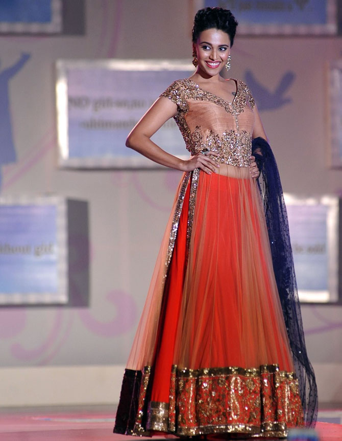 Swara Bhaskar in a Manish Malhotra creation