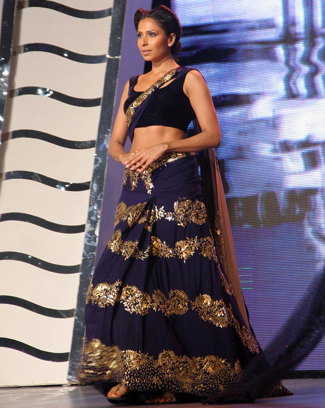 Candice Pinto in a Manish Malhotra creation