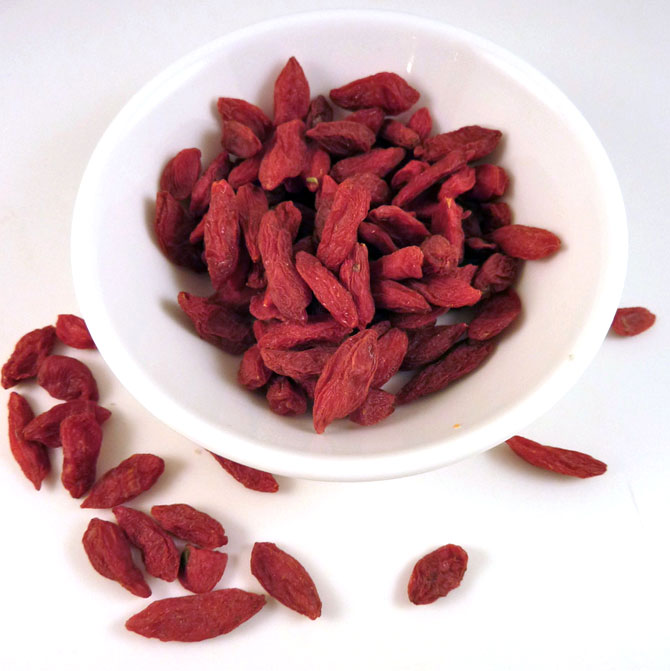 Goji berries are very high on amino acid profile, most nutritious among all fruits.