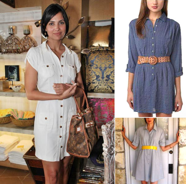 Comfortably casual, the shirt dress is a hot favourite in the celeb circuit