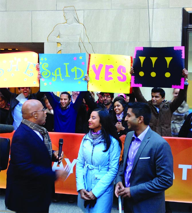 Chirag Shah and Simone Jhingoor on Today Show