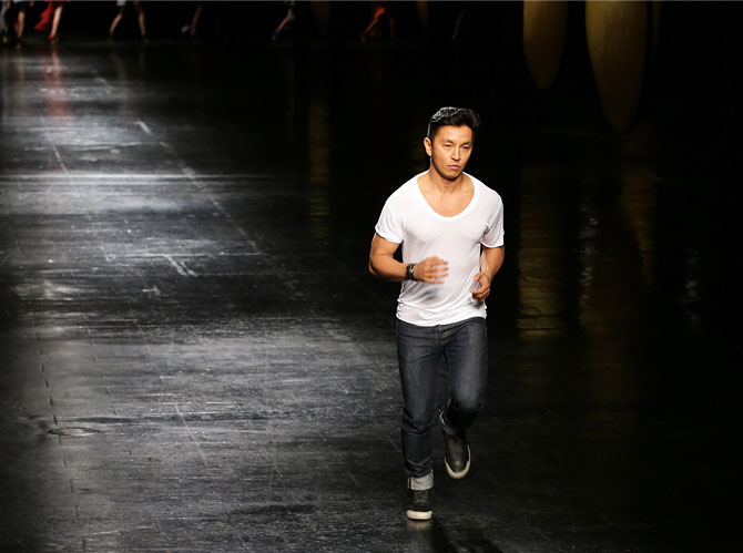 NY Fashion Week: Himalayan designs, streaker on the runway