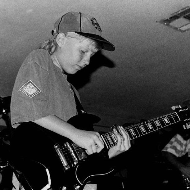 Derek Trucks burst onto the scene as a child prodigy. This photograph is from 1992