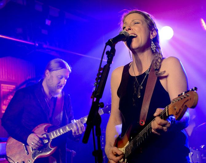Derek Trucks and Susan Tedeschi in concert in New York earlier this year.