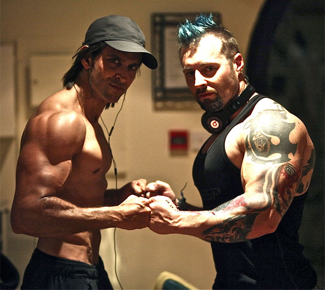 Hrithik Roshan with Kris Gethin