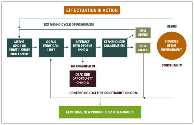 An illustrative chart of effectuation in action