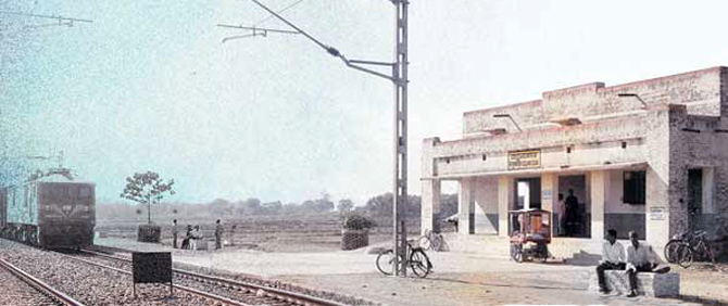 Begun Kodar railway station in West Bengal