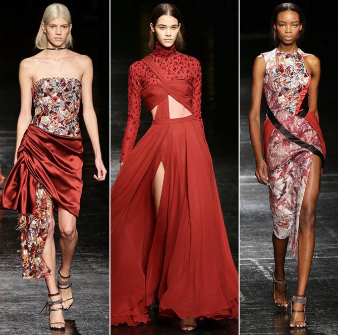 Models walk the runway Prabal Gurung's creations.
