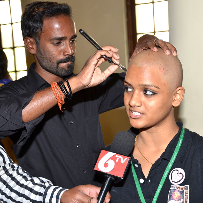 Rennee Saradha shaves it all off for a cause