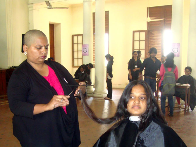 Why are women in Chennai shaving their heads?