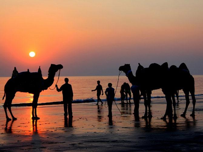 Sunset at the Mandvi Beach
