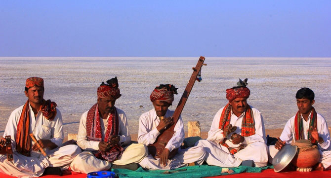 Musicians at the Great Rann of Kutch