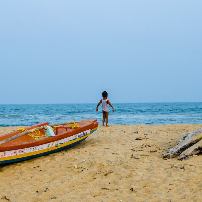 A beach in Pondicherry