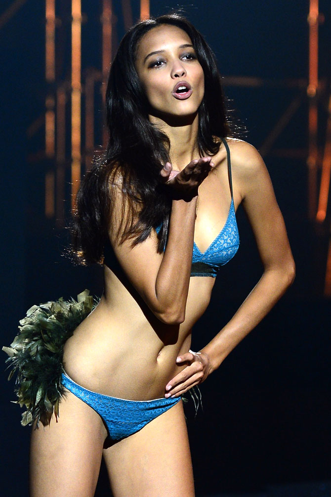 A model in Etam lingerie.