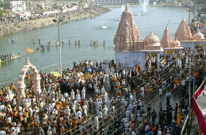 Devotees at a Kumbh Mela in Ujjain, which will host the event next (2016).
