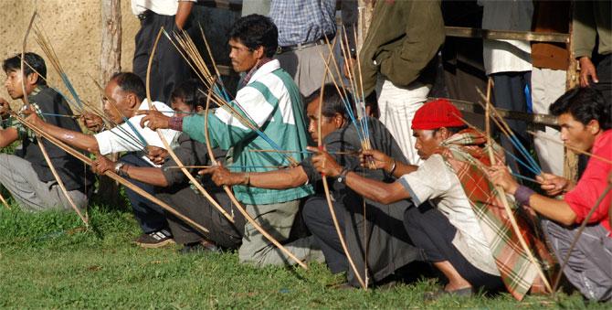 Archers gear up in Shillong, Meghalaya.