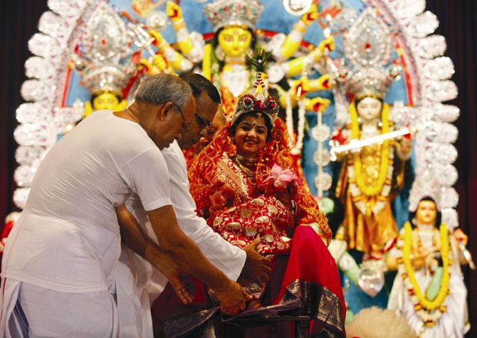 Kumari Puja in West Bengal