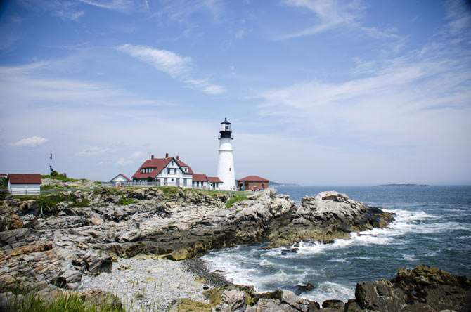 Portland Head Light, Cape Elizabeth, Maine, USA.