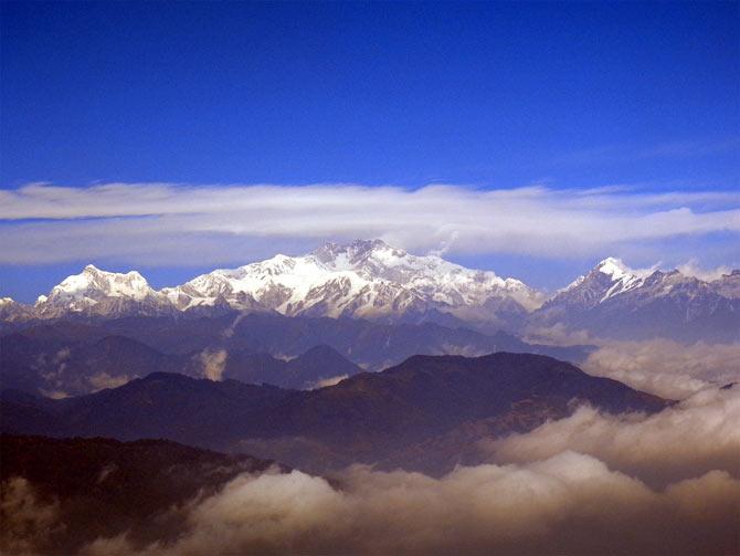 Mount Kangchenjunga, Sikkim.