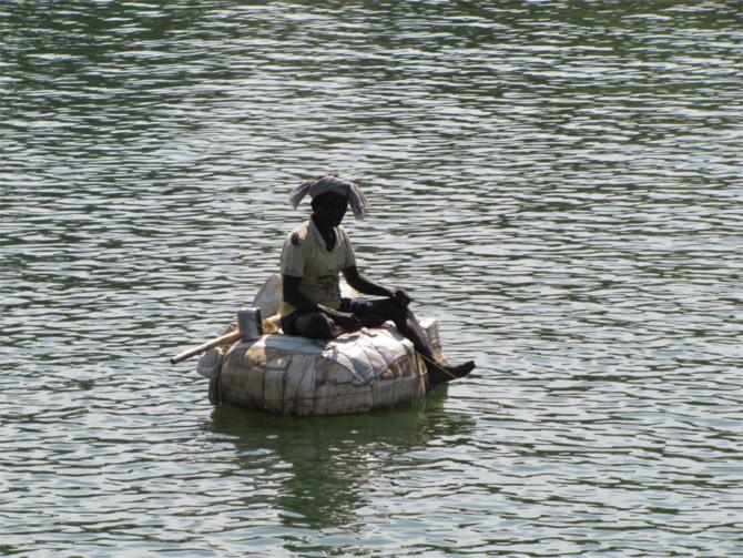 The Godavari river, Andhra Pradesh.