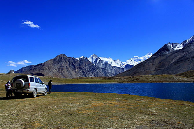 Stat Tso lake near Penzi La in Zanskar region of Jammu & Kashmir.