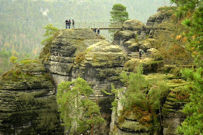 The Bastei rock formation, Dresden, Germany