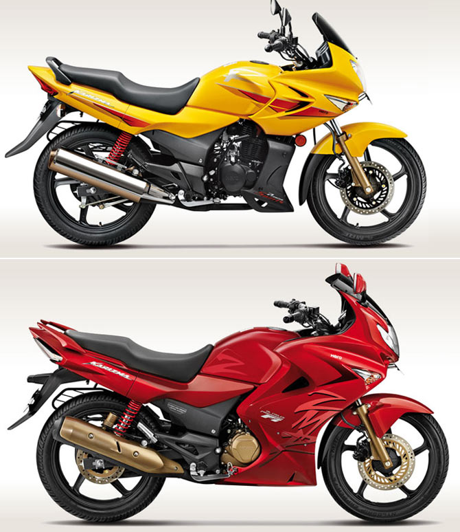 Hero MotoCorp Karizma R (above) and ZMR (below)