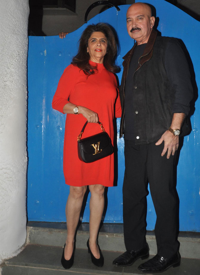 Pinki and Rakesh Roshan