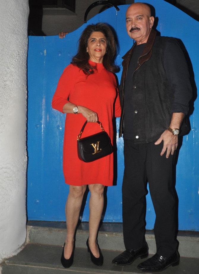Pinki and Rakesh Roshan