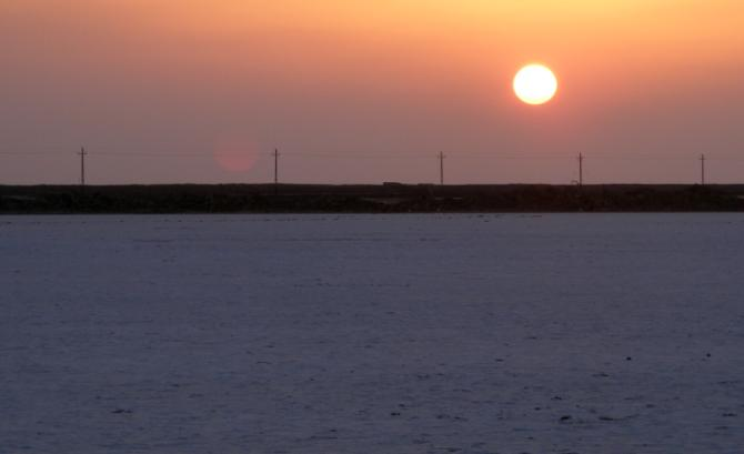 A sunny evening in the Rann of Kutch