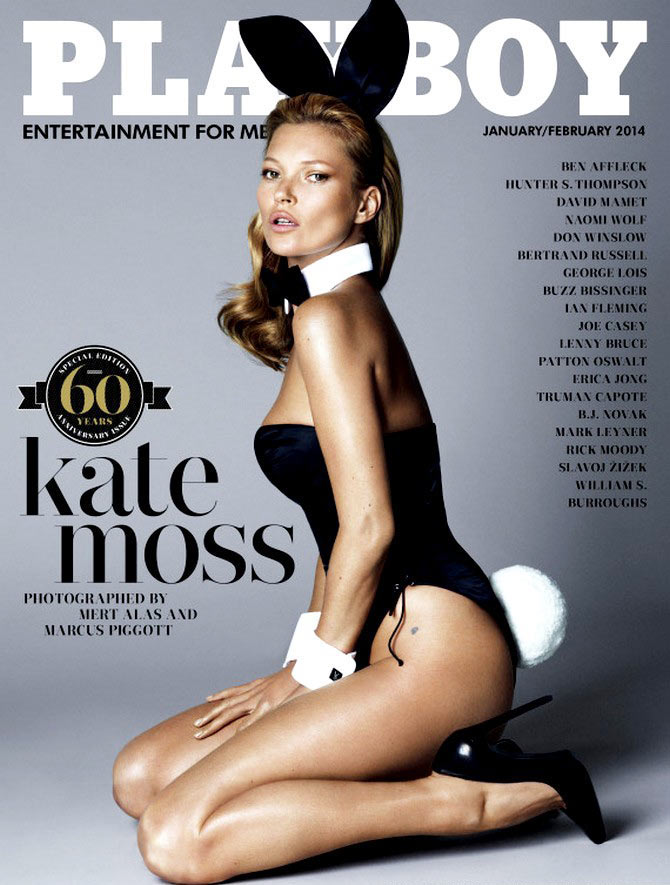 Kate Moss for the 60th anniversary edition of Playboy