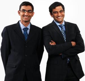 From left: Krishna Ramkumar and Akshay Saxena