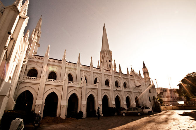 The San Thome Basilica in Mylapore, Chennai