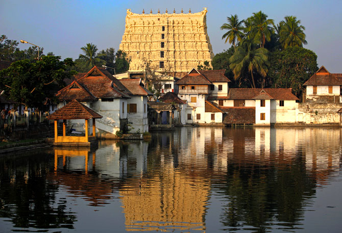 A view of Sree Padmanabhaswamy temple in Thiruvananthapuram.