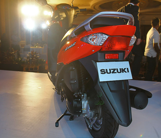 The Let's gets a brand new stylised rear unlike the Suzuki access.