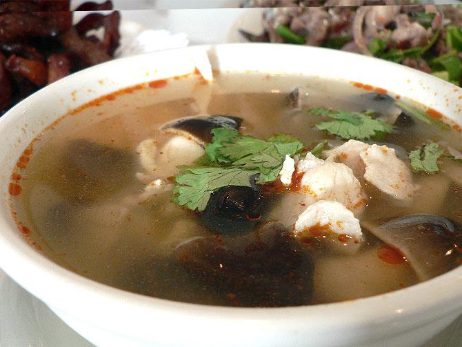 Chicken-mushroom soup
