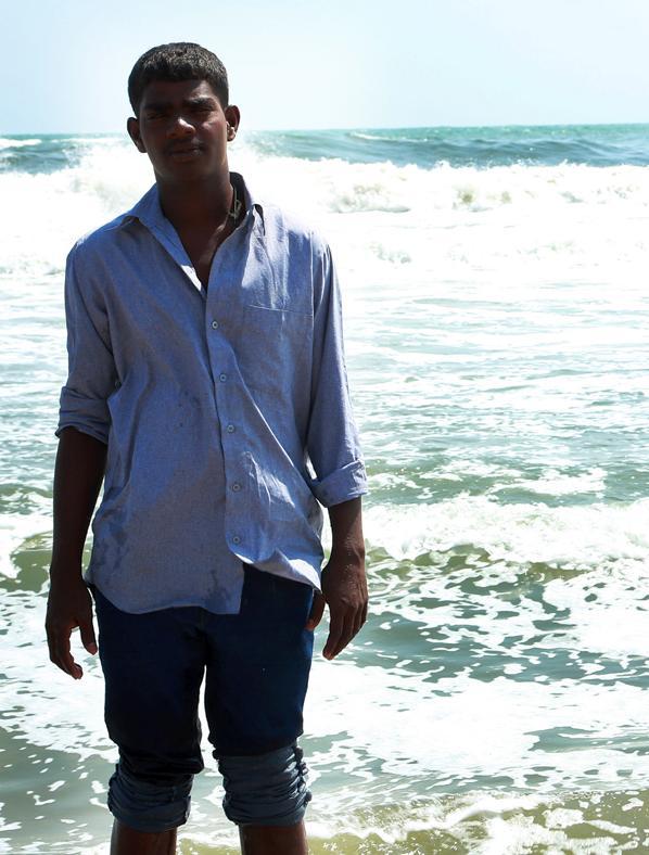 Venkatesh at the Marina Beach.