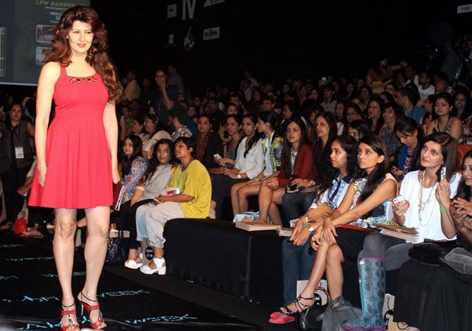 Sangeeta Bijlani at Lakme Fashion Week