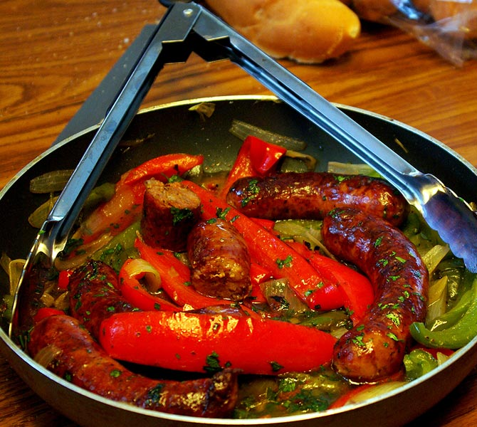 Fried Sausage and Pepper