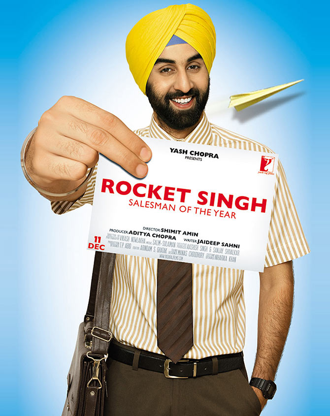 A poster of Rocket Singh Salesman of The Year