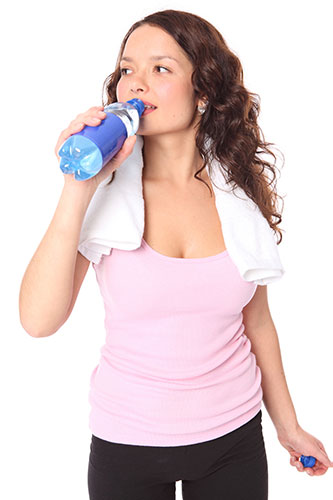 Too much water for high-intensive workouts can also be dangerous because it can cause water-intoxication.