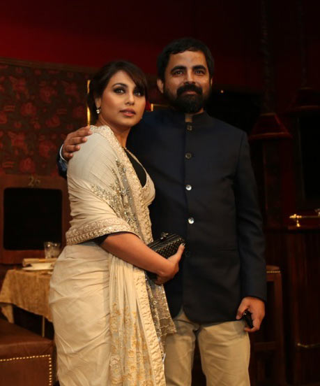 Rani Mukerji and Sabyasachi Mukherjee at the India Couture Week