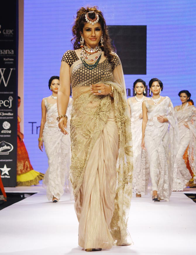 Raveena Tandon at the India International Jewellery Week