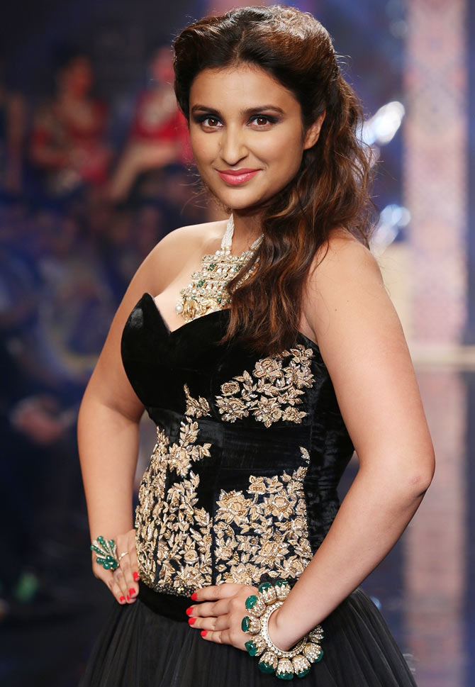 Parineeti Chopra walks the runway at India International Jewellery Week.