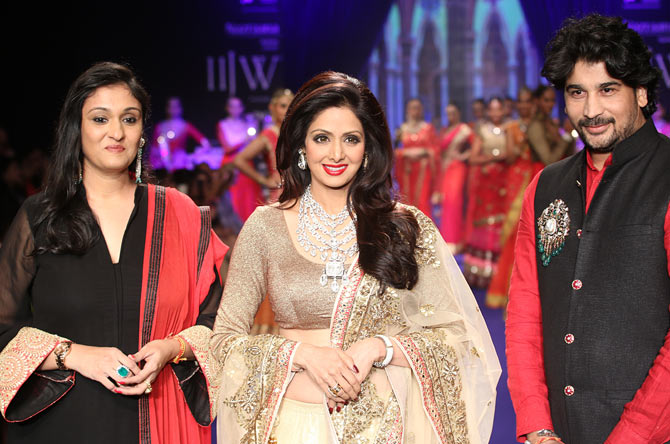 Sridevi at the end of the show at India International Jewellery Week
